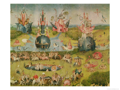 The Garden of Earthly Delights: Allegory of Luxury, Central Panel of Triptych, circa 1500 Premium Giclee Print by Hieronymus Bosch