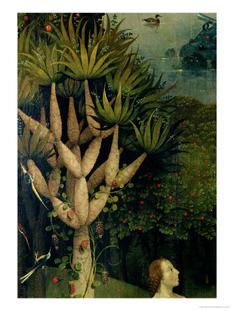 The Tree of the Knowledge of Good and Evil, Fr. the Right Panel of the Garden of Earthly Delights Premium Giclee Print by Hieronymus Bosch