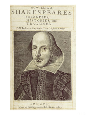 "Titlepage of ""Mr. William Shakespeares Comedies, Histories and Tragedies"""