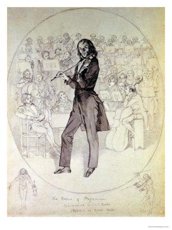 Niccolo Paganini (1784-1840), Violinist Premium Giclee Print by Daniel Maclise