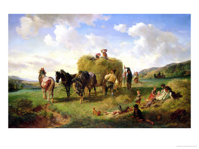 The Hay Harvest, 1869 Giclee Print by Hermann Kauffmann