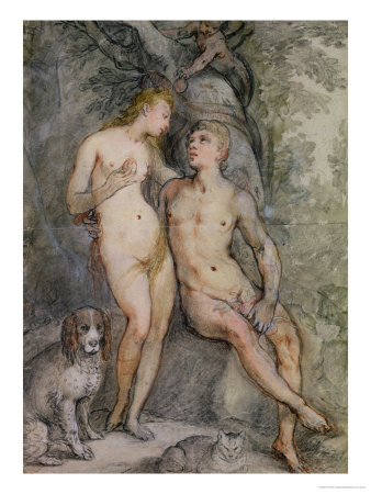 Adam and Eve Giclee Print by Hendrik Goltzius