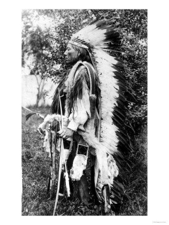 White Wolf, a Comanche Chief, circa 1891-98 Lámina giclée