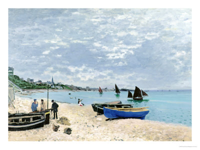 The Beach at Sainte-Adresse, 1867 Giclee Print
