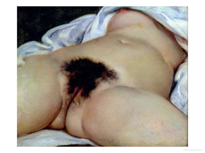 The Origin of the World, 1866 Premium Giclee Print by Gustave Courbet