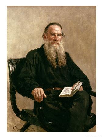 Lev Tolstoy (1828-1810) 1887 Premium Giclee Print by Ilya Efimovich Repin