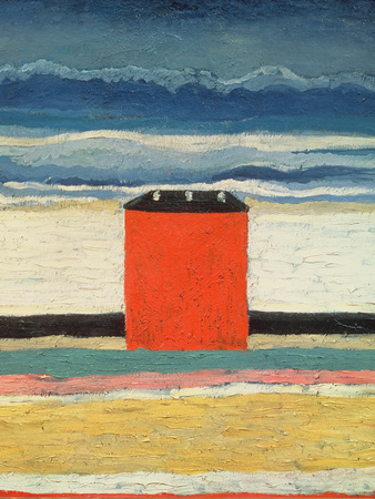 Red House, 1932 Premium Giclee Print by Kasimir Malevich