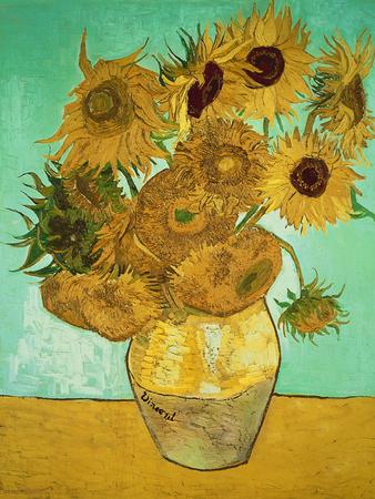 Solrosor, ca 1888 Gicléetryck av Vincent van Gogh