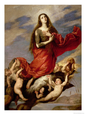 The Assumption of Mary Magdalene, 1636 Premium Giclee Print by Jusepe de Ribera