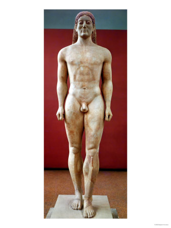 anavysos kouros 2018-5-24  anavysos kouros, 530 bce, marble, 6' 4 (national archaeological museum, athens) context: 6th century bce archaic period (700-480 bce) first obtained iron chisels in this period.