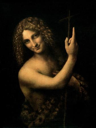 St. John the Baptist, 1513-16 Premium Giclee Print by  Leonardo da Vinci