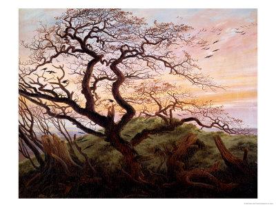 The Tree of Crows, 1822 Premium Giclee Print by Caspar David Friedrich