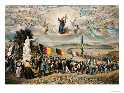 Universal Democratic and Social Republic, 1848 Premium Giclee Print by Frederic Sorrieu