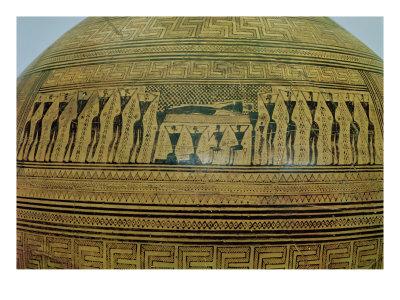 The Dipylon Amphora, Funerary Urn in the Geometric Style from the Kerameikos Necropolis Premium Giclee Print