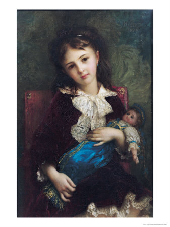 Portrait of Catherine Du Bouchage, 1879 Premium Giclee Print by Ernest Antoine Hebert