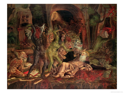 Temptation of St. Anthony Giclee Print by Bernardo Parentino