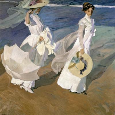 A Walk on the Beach, 1909 Premium Giclee Print by Joaquín Sorolla y Bastida