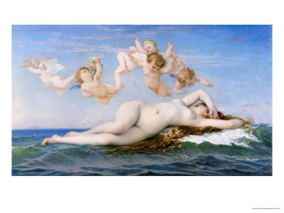Birth of Venus, 1863 Premium Giclee Print by Alexandre Cabanel