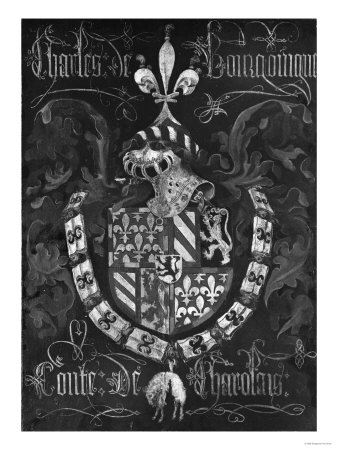 Coat of Arms of Charles De Bourgogne (1433-77) Count of Charolais ...