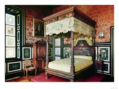 Bedroom of Henri II (1519-59) and Diane De Poitiers (1499-1566) Lámina giclée