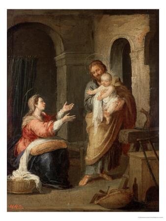The Holy Family, circa 1660-70 Premium Giclee Print by Bartolome Esteban Murillo