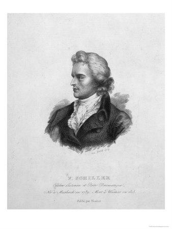 Friedrich Schiller (1759-1805) Premium Giclee Print by Emile Giroux