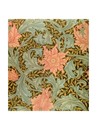 "wallpaper design. ""Single Stem"" Wallpaper Design Giclee Print by William Morris at AllPosters."
