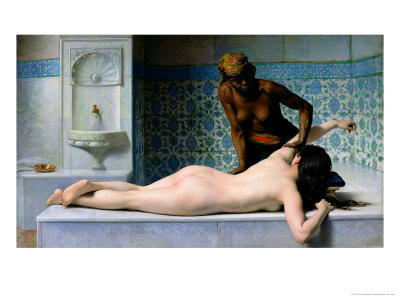 The Massage, 1883 Premium Giclee Print by Edouard Debat-Ponsan