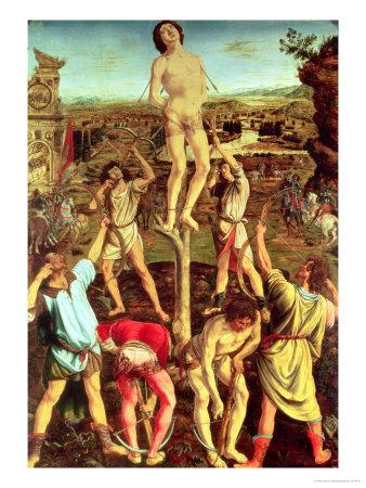 Martyrdom of St. Sebastian, 1475 Premium Giclee Print by Antonio Pollaiolo