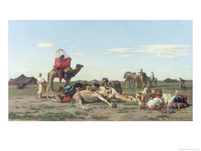 Nomads in the Desert, 1861 Giclee Print