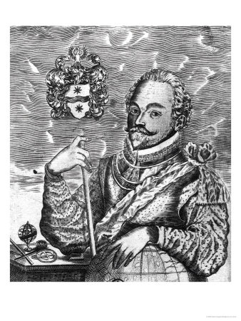 Portrait of Sir Francis Drake (circa 1540-96) Premium Giclee Print by Robert Vaughan