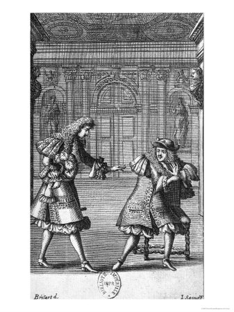 "Scene from ""Le Misanthrope"" by Moliere (1622-73), Engraved by Jean Sauve (Fl.1660-91) Giclee Print by Pierre Brissart"
