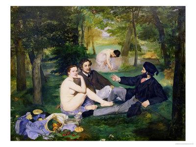 Dejeuner Sur L'Herbe, 1863 Premium Giclee Print by Édouard Manet