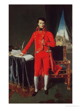 Bonaparte as First Consul (1769-1821), 1804 Premium Giclee Print by Jean-Auguste-Dominique Ingres