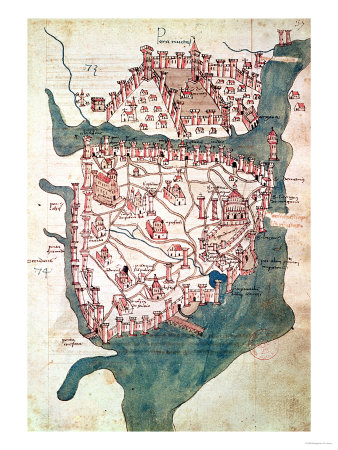 Plan of Constantinople Giclee Print