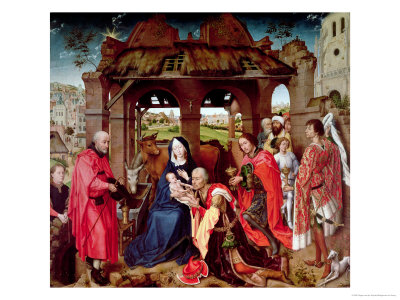 The Adoration of the Magi, circa 1455 Premium Giclee Print by Rogier van der Weyden