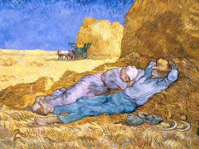 Midday Rest (after Millet), c.1890 Premium Giclee Print by Vincent van Gogh