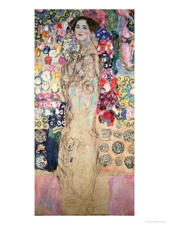 Portrait of Maria Munk (Unfinished 1917-18) Giclee Print by Gustav Klimt
