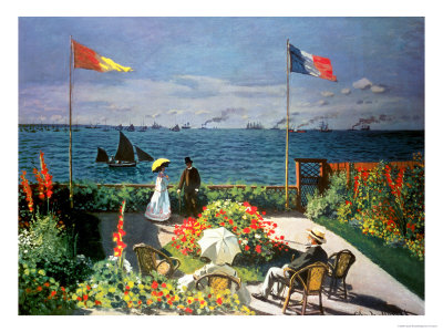 The Terrace at Sainte-Adresse, 1867 Premium Giclee Print by Claude Monet
