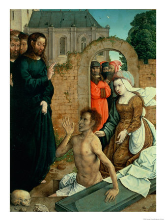 The Resurrection of Lazarus Premium Giclee Print by Juan de Flandes