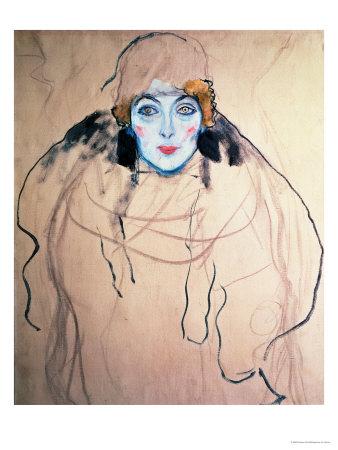 Head of a Woman Giclee Print by Gustav Klimt