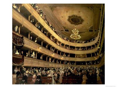 The Auditorium of the Old Castle Theatre, 1888 Premium Giclee Print by Gustav Klimt