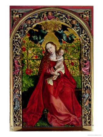 Madonna of the Rose Bower, 1473 Premium Giclee Print by Martin Schongauer