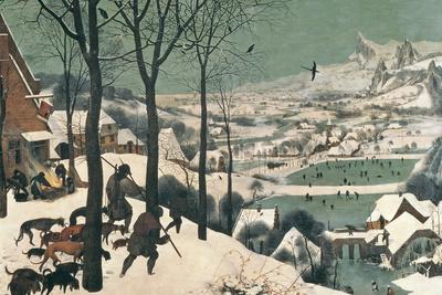 Jagers in de sneeuw, februari 1565 Gicléedruk van Pieter Bruegel the Elder