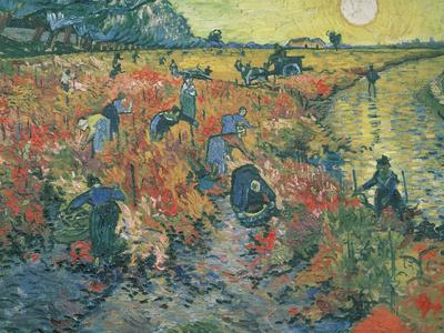 Red Vineyards at Arles, 1888 Premium Giclee Print by Vincent van Gogh