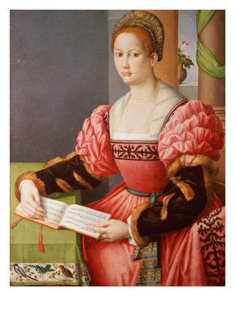 Portrait of a Lady Premium Giclee Print by Francesco Ubertini Bacchiacca