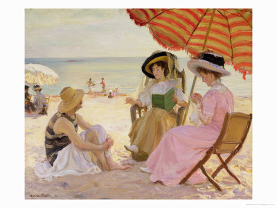 The Beach Premium Giclee Print by Alfred Victor Fournier