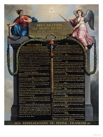 Declaration of the Rights of Man and Citizen, 1789 Premium Giclee Print