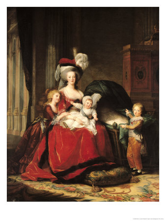 Marie-Antoinette (1755-93) and Her Four Children, 1787 Lámina giclée