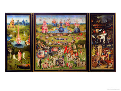 The Garden of Earthly Delights, circa 1500 Impressão giclée